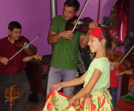 dancing with the gypsy musicians
